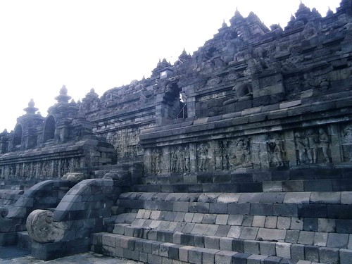 Borobodur Temple West Stairs