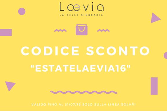 codice sconto creme solari Laevia