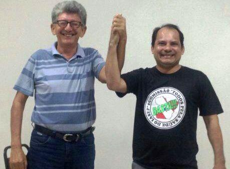 Fundador do PT será o vice na chapa de Márcio Pinto, do PSOL, dinaldo pedroso e márcio pinto
