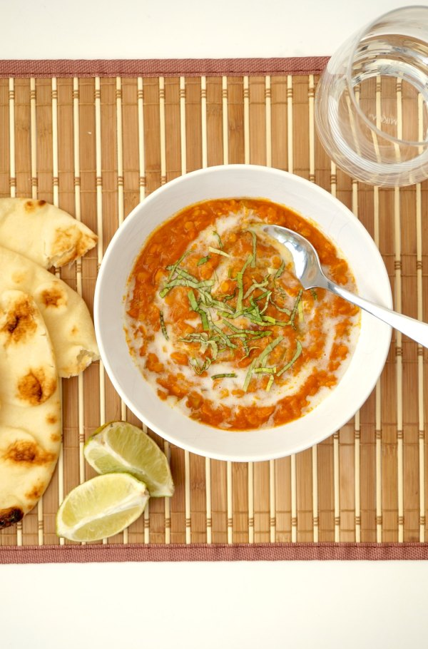 Red Lentil Curry with Lime and Naan | thelittleredspoon.com