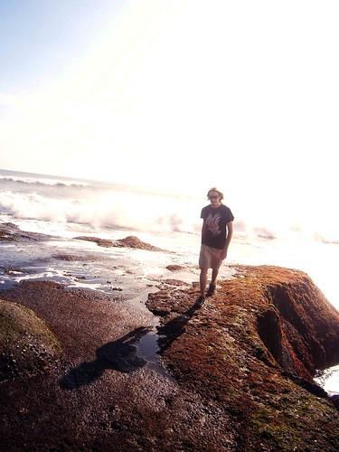 Kyle at the shore Tanah Lot Bali