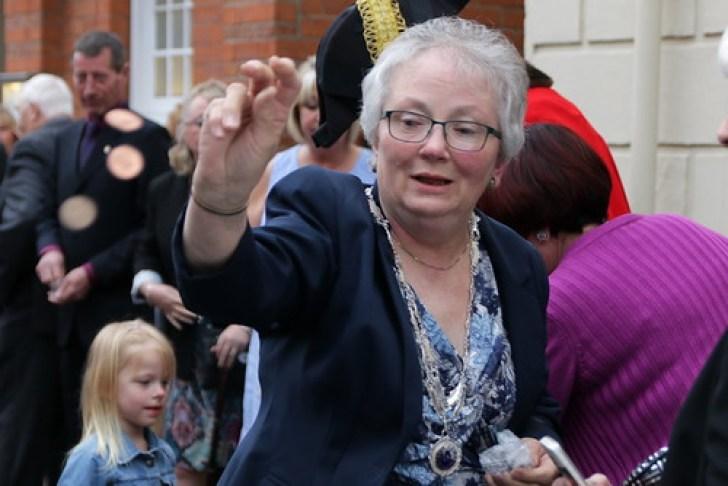 Penny Throwing Mayoress