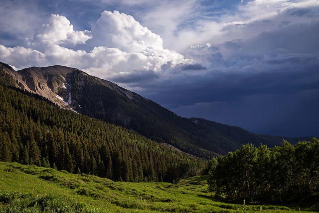 Terrace & Storm Clouds