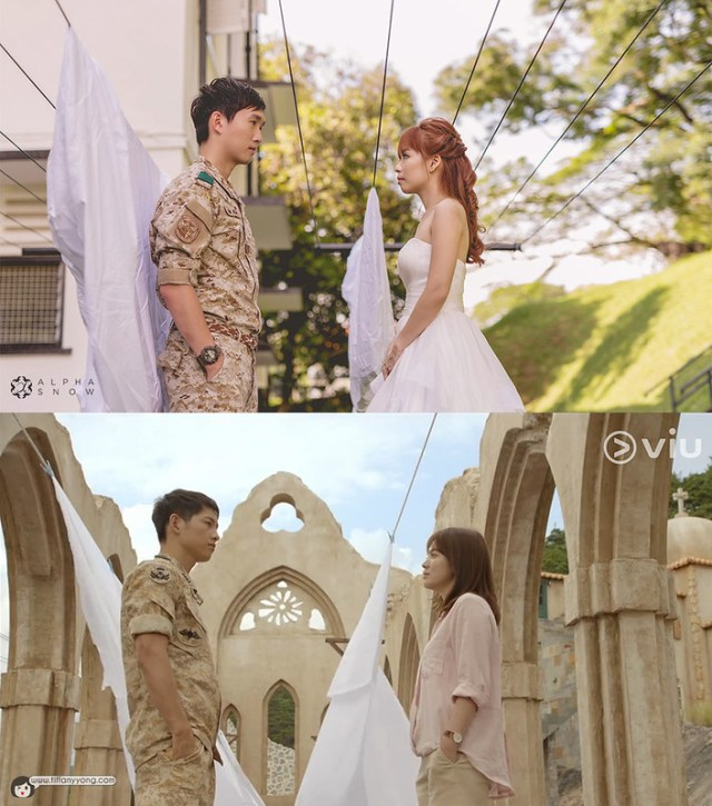 Descendants of the Sun Drama Ep4 Clothesline Tiffany Yong