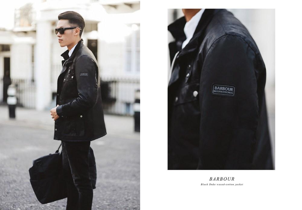 Barbour duke waxed-cotton jacket