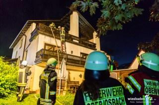 Dachstuhlbrand Niedernhausen-Niederseelbach 08.07.16