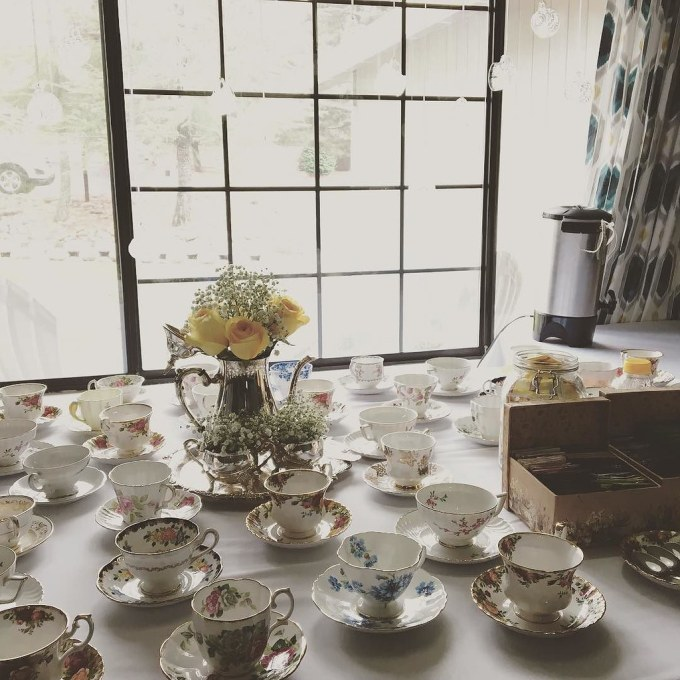 Hosting a bridal shower today for my sister-in-love, Serena! We're having tea with the bride-to-be!