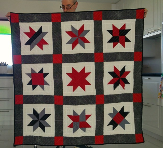 MIL's quilt finished and washed