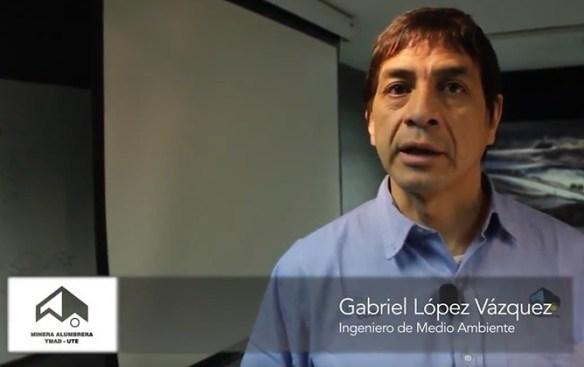 Gabriel López Vasquez, Ingeniero de Medio Ambiente.