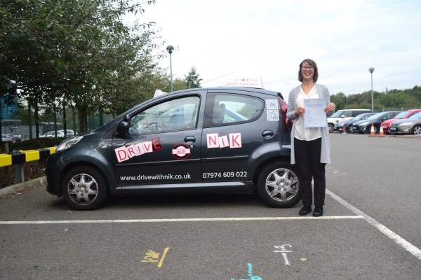 Driving lessons Crouch End Nerissa passed her practical driving test with Drive with Nik