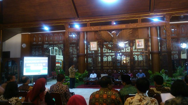 Suasana Kunker Komisi II DPR RI di Pendopo Kabupaten Tulungagung Kamis malam(11/8)