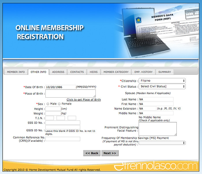 Pagibig online registration - Other info