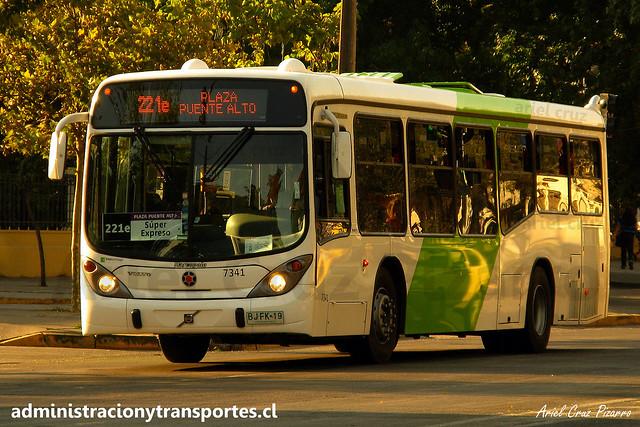 Transantiago 221e | Subus Chile | Marcopolo Gran Viale - Volvo B7R LE / BJFK19 - 7341