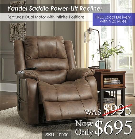 Yandel Saddle Power Lift Recliner 10900