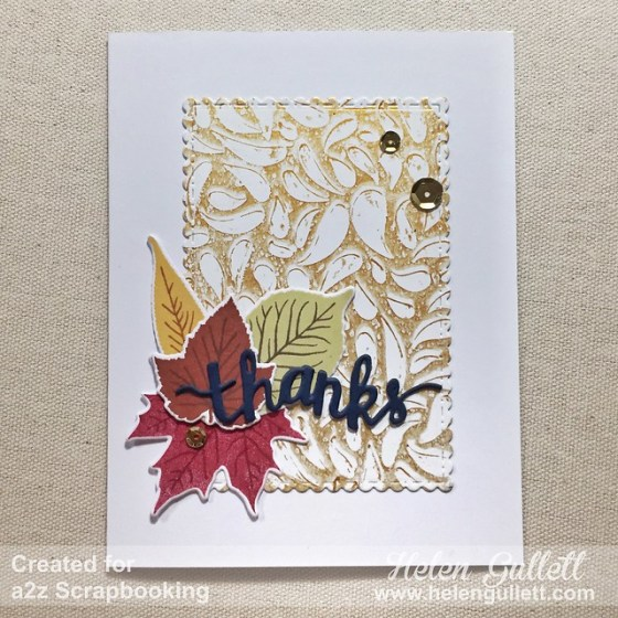 a2z Scrapbooking - Thanks
