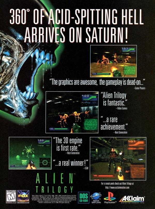 Alien Trilogy ad 02
