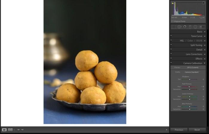 Camera Calibration, Lightroom Tutorial for Food photos, Lightroom tutorial, Editing RAW files in Lightroom,