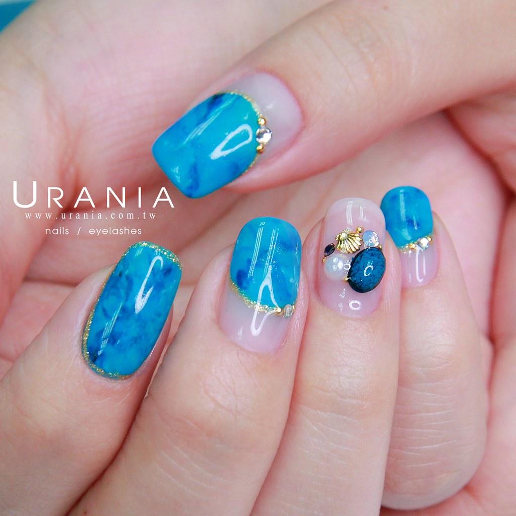 ♥ 綠松石的魅力!點亮指甲的神秘魔法石 11