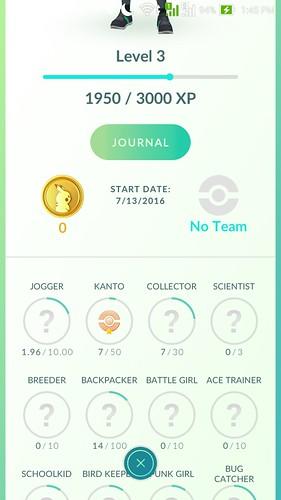 Pokemon Go Profile