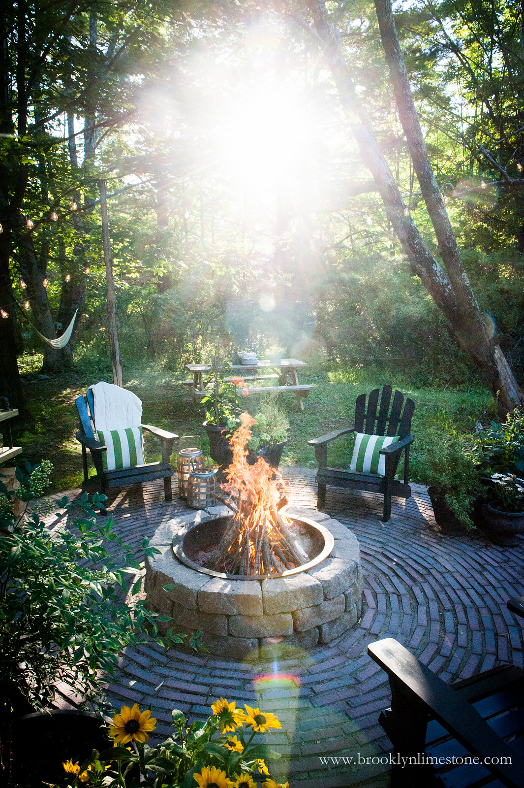 Firepit Patio - Country Cottage DIY Circular Outdoor ... on Backyard Patio With Firepit id=79141
