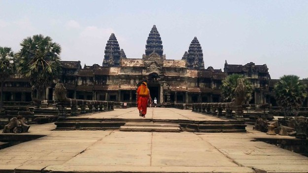 Angkor Wat and Monk