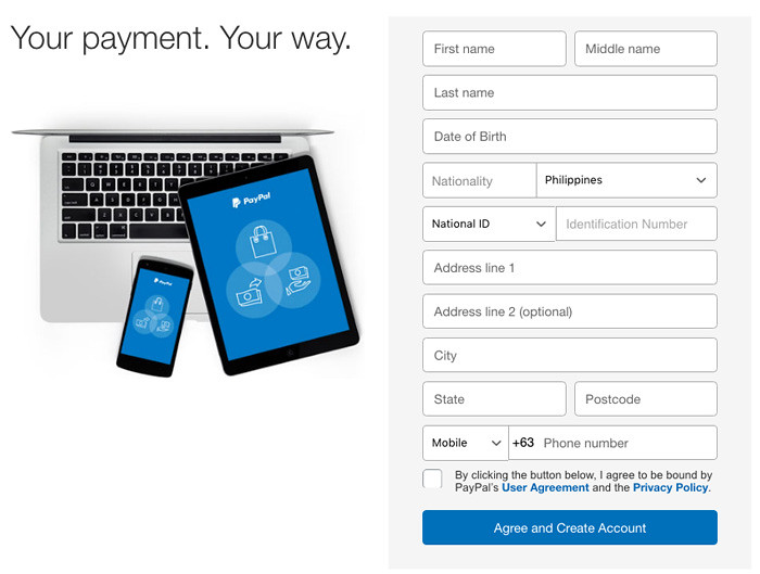 Create PayPal Account in the Philippines
