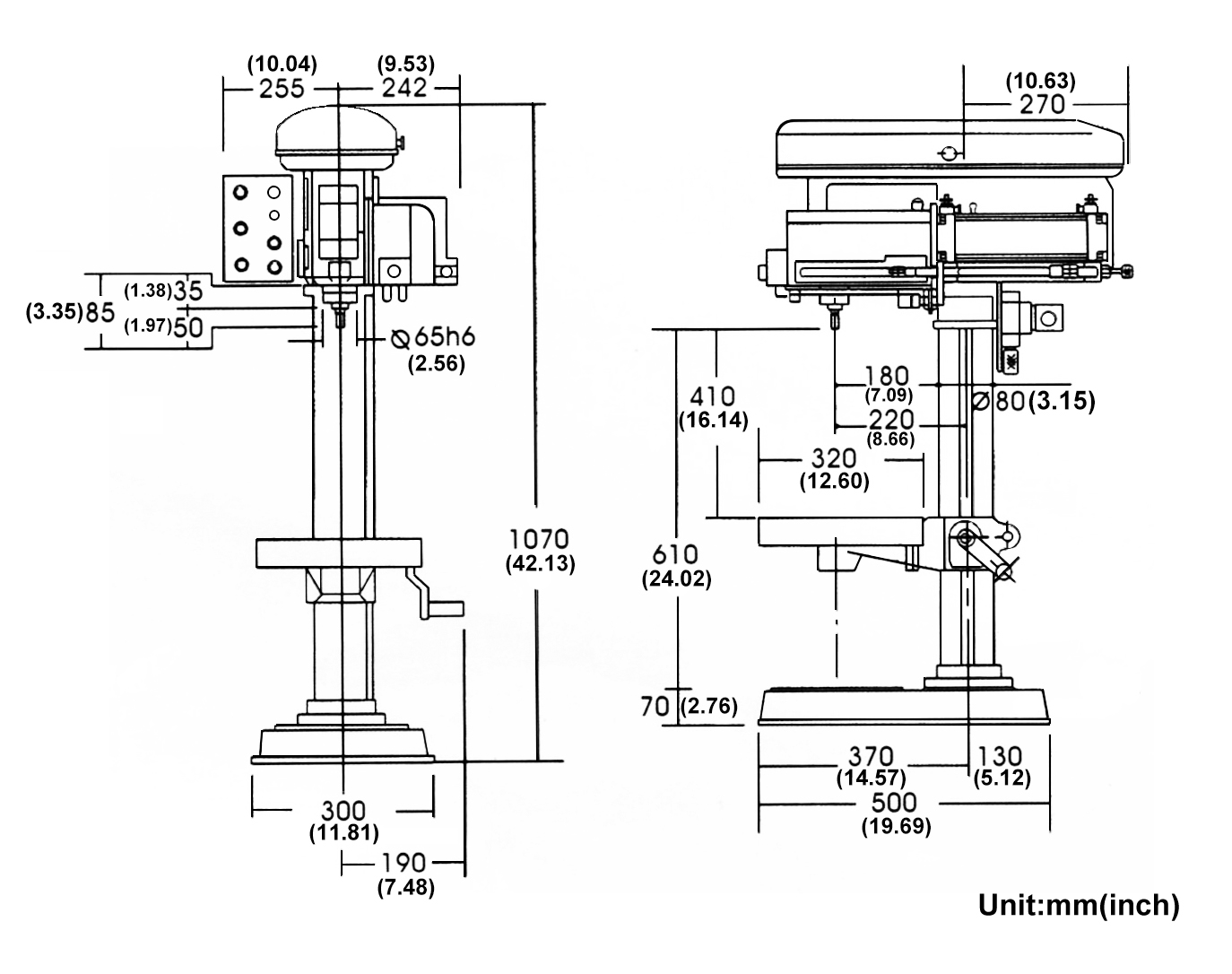 Bench Drill Press Machine Pneumatic Automatic 25mm 1