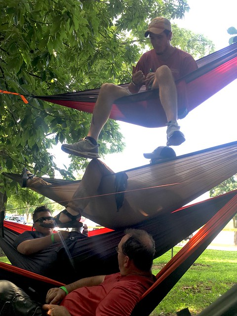guys in hammocks