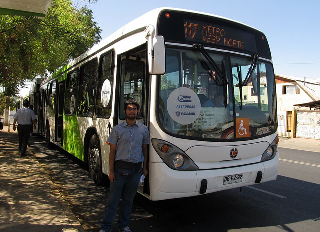 Ariel Cruz & Bus Scania Biodiésel de Transantiago