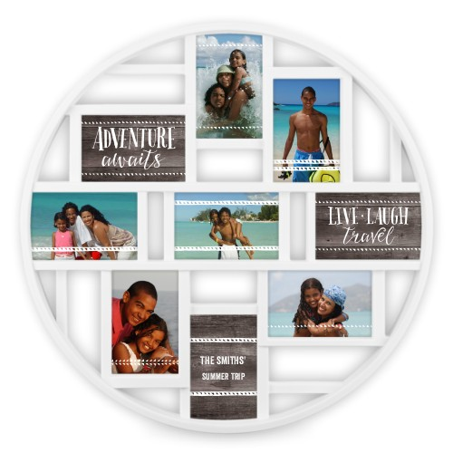 Live Laugh Travel 9 Circle Collage Frame Collage Picture