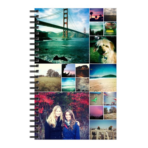 Collage Squares Notebook Spiral Notebooks Shutterfly