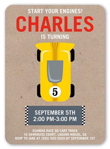 race car party 5x7 boy birthday invitations shutterfly