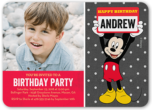 disney mickey mouse name 5x7 stationery card by disney shutterfly