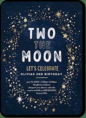 space birthday invitations tiny