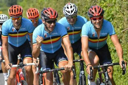 Belgian team do a recce of RR circuit