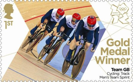 Men's Team Sprint Gold Medal Stamp