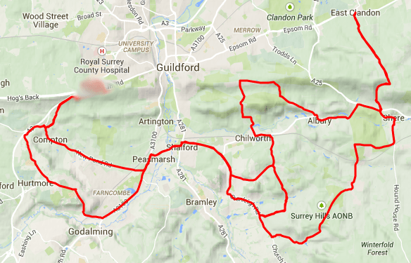 SW Guildford Ride 62K