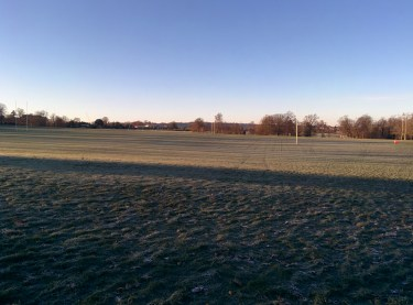 Frozen Stoke park for Park run