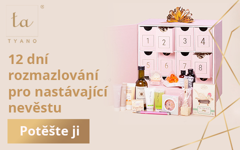růžový box s 12 šuplíky a luxusními produkty