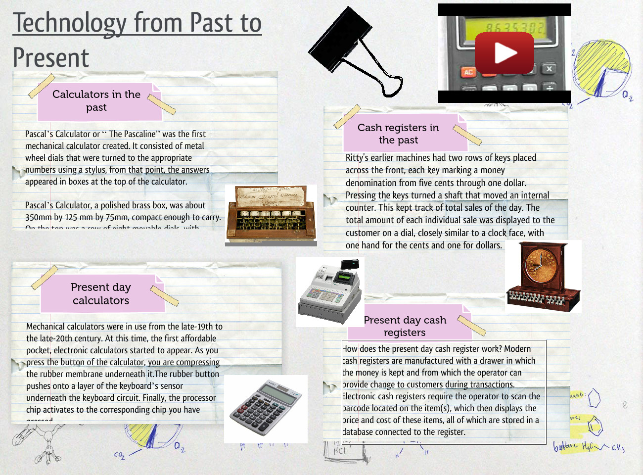 Technology From Past To Present Brass Calculator Cash