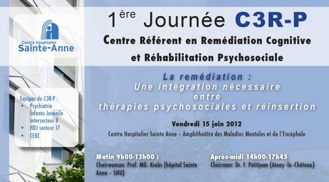 Première Journée du C3RP, 15 juin 2012