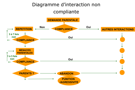 TDAH Diagramme d'interaction non compliante , Stéphan Renou