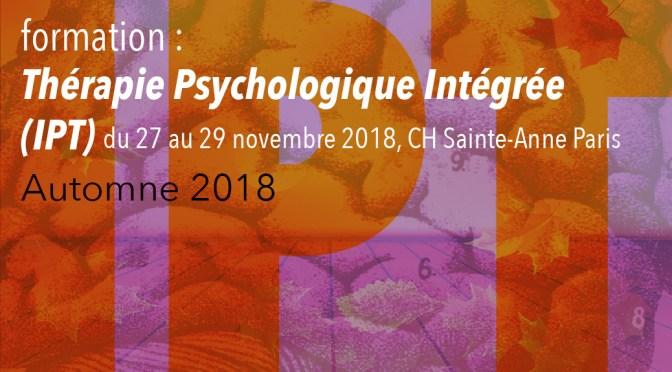 Thérapie Psychologique Intégrée – formation, automne 2018