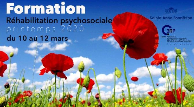 Réhabilitation psychosociale – Formation printemps 2020