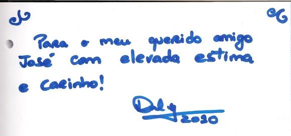 Autografo Dulce Pontes