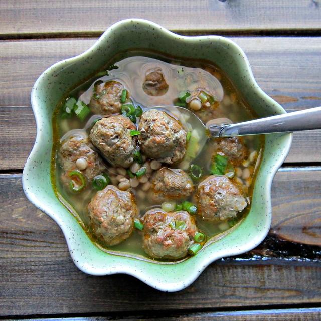 Moroccan Meatball Couscous Soup Square