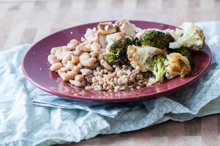Balsamic Chicken and Veggie Farro Bowls 3