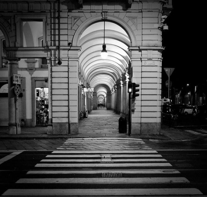 Eindeloze bogen in Turijn