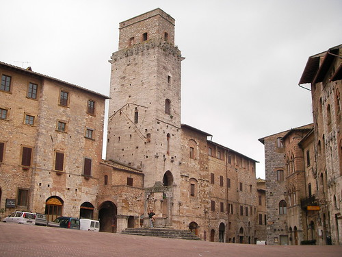 Patrimonio de la Humanidad en Europa y América del Norte. Italia. Centro histórico de San Gimignano.