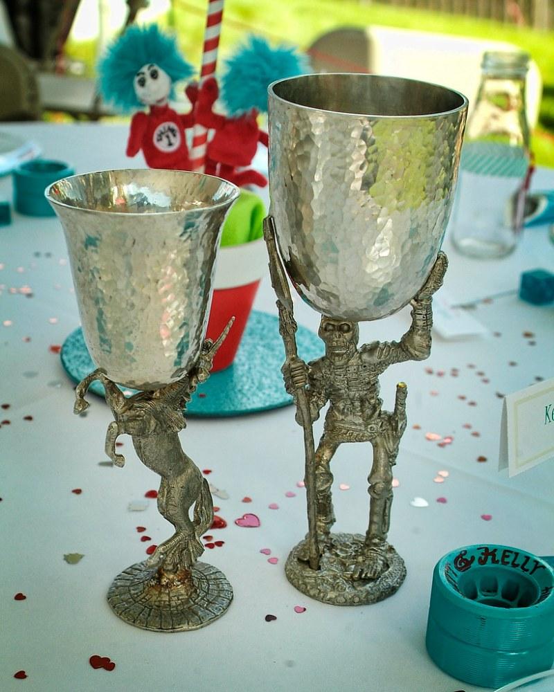 Dr. Seuss meets roller derby wedding from @offbeatbride